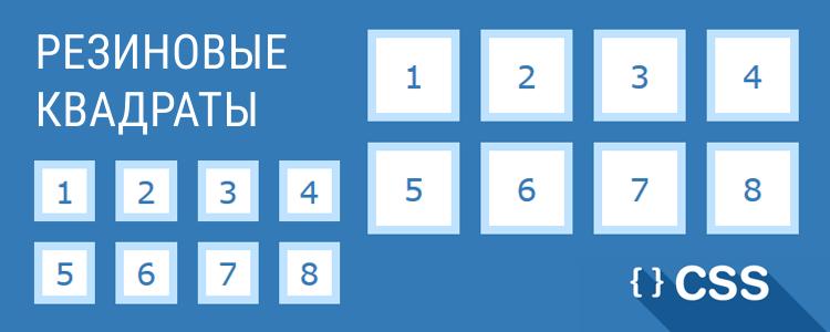 Резиновые квадраты на CSS